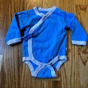 Baby Soy side button kimono style onesie